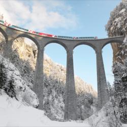 Schoene-Aussichten-Touristik-Bahnreise-Winterliche-Schweiz